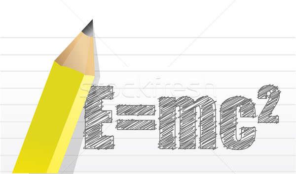e=mc2 illustration design over a notepad background Stock photo © alexmillos