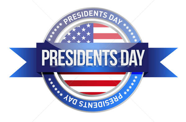 presidents day. us seal and banner illustration design Stock photo © alexmillos