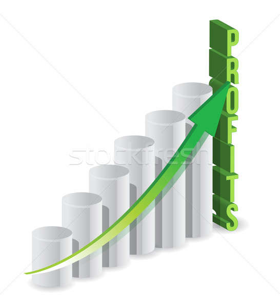 Stock photo: Profit graph business illustration design over a white backgroun