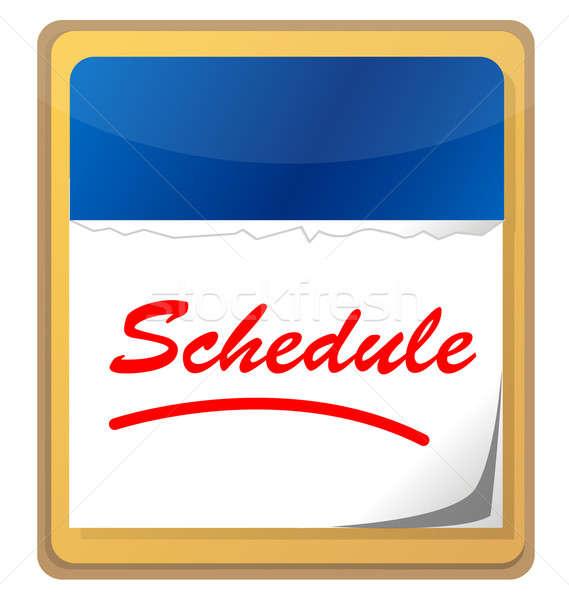 Stockfoto: Kalender · woord · schema · papier · muur · tijd