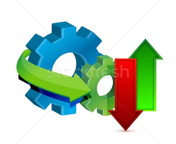 Datos transferir artes negocios Internet financiar Foto stock © alexmillos