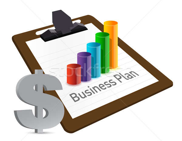 Business plan chart and currency illustration design  Stock photo © alexmillos