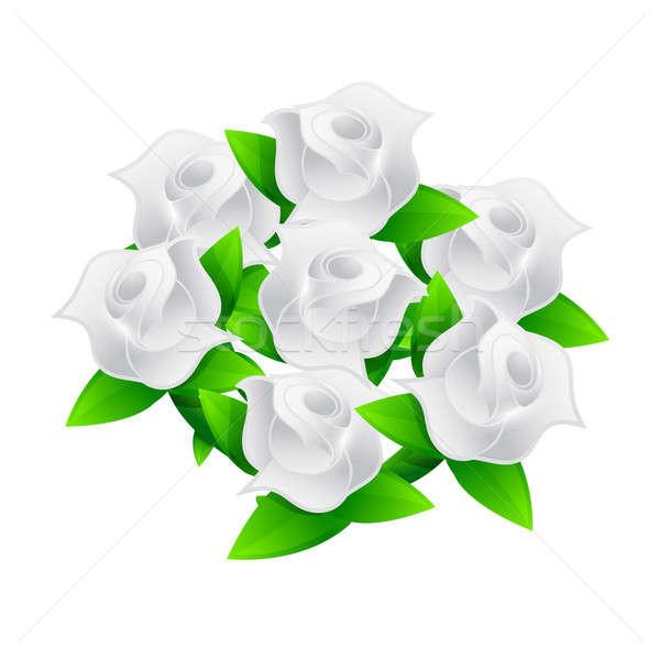 Witte bloem illustratie bloem liefde abstract Stockfoto © alexmillos