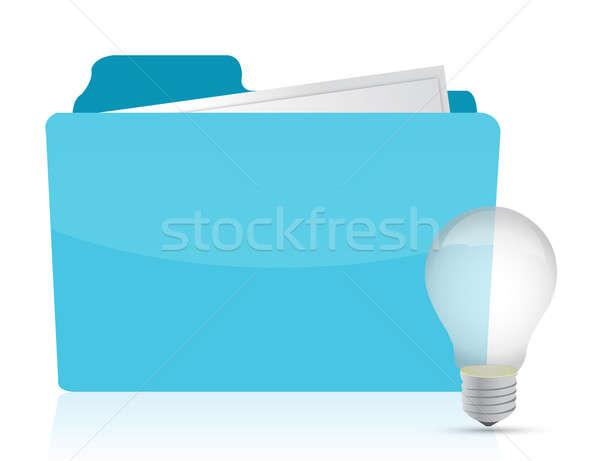 Stok fotoğraf: Klasör · fikirler · soyut · ışık · imzalamak · yazılım