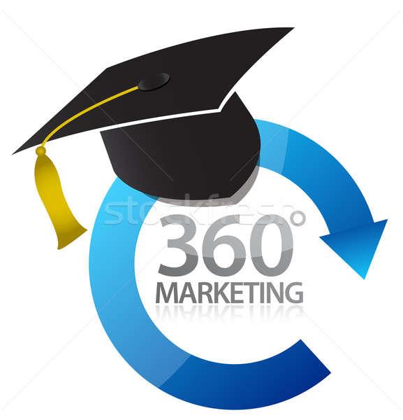 Comercialización educación ilustración diseno blanco negocios Foto stock © alexmillos
