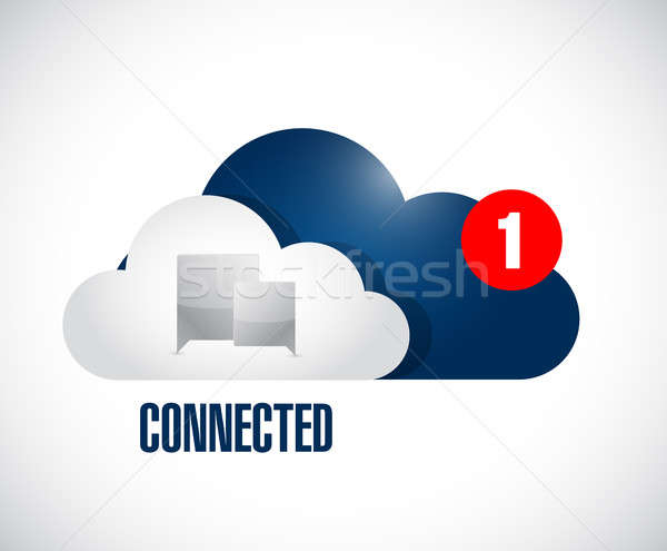 cloud connected communication concept message. Stock photo © alexmillos