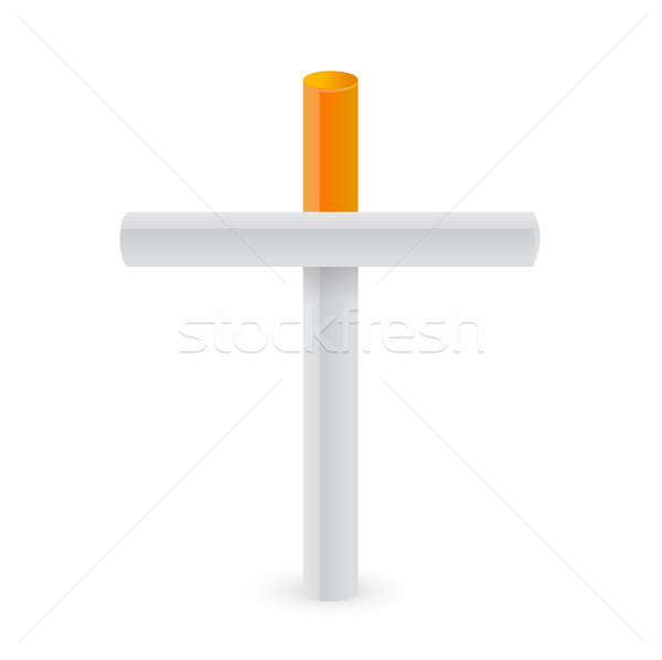 Cigarettes croix fumer métaphore illustration design Photo stock © alexmillos