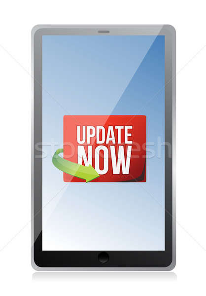 Update now label on a tablet screen Stock photo © alexmillos