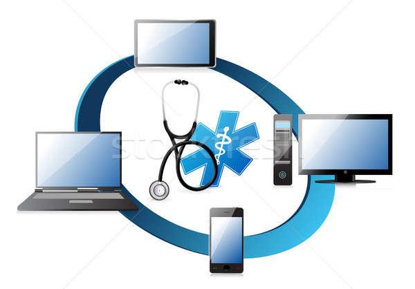 medical network concept Stock photo © alexmillos