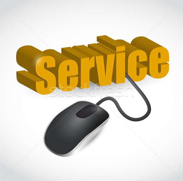 サービス にログイン マウス 実例 デザイン 白 ストックフォト © alexmillos