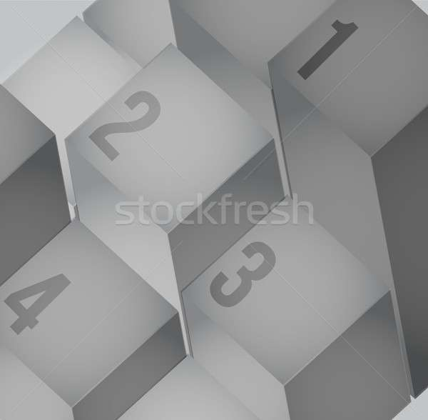 Abstract cubes background with copy spaces. Stock photo © alexmillos
