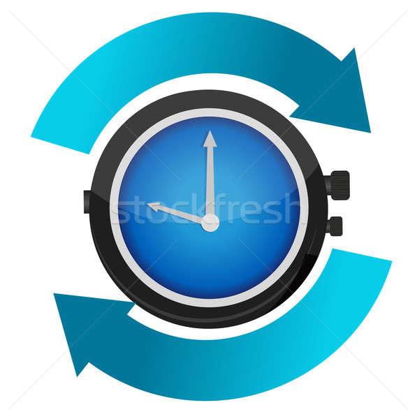 time constant movement concept illustration design Stock photo © alexmillos