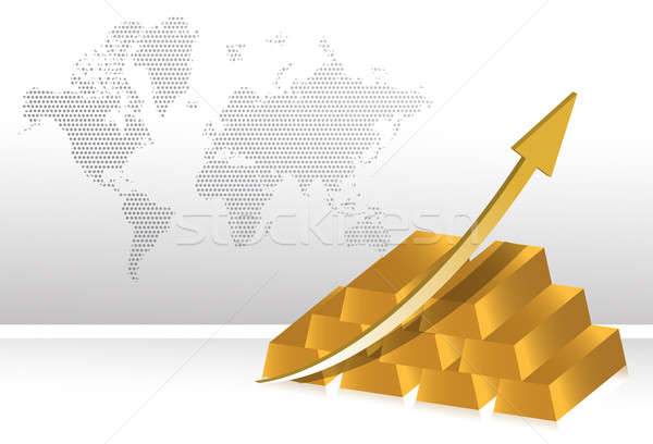 gold prices increase illustration backgroundgold prices increase Stock photo © alexmillos
