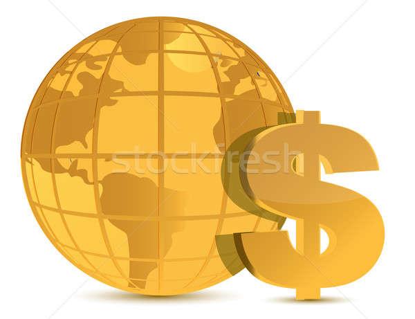Mondo soldi abbondanza illustrazione design bianco Foto d'archivio © alexmillos