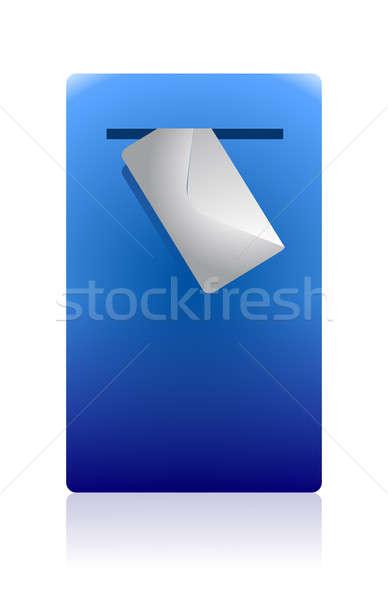 почтовый ящик конверт иллюстрация дизайна белый знак Сток-фото © alexmillos