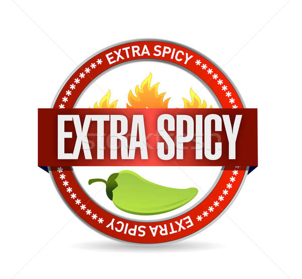 extra spicy seal illustration design over a white background Stock photo © alexmillos
