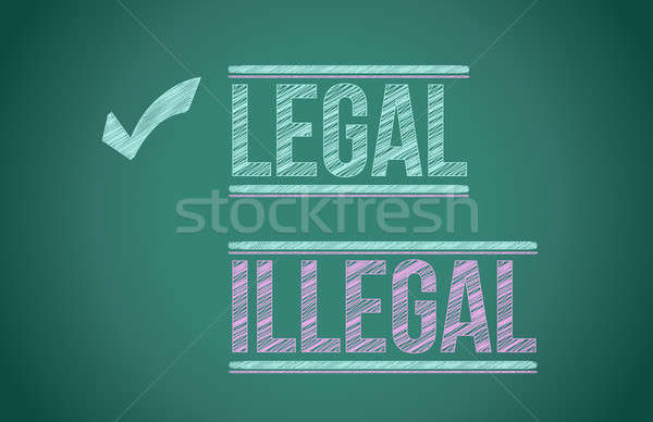 Legal vs illegal  Stock photo © alexmillos