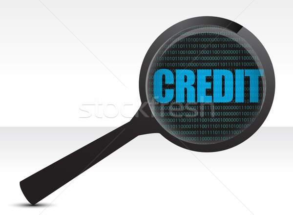 searching for credit illustration design over white Stock photo © alexmillos