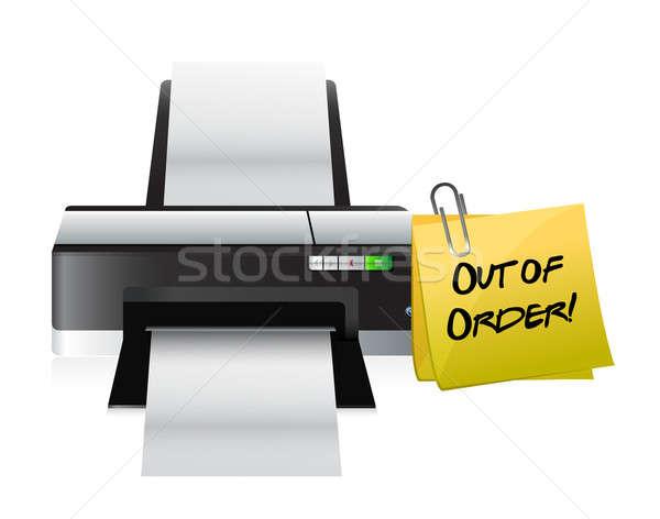 принтер из порядка пост иллюстрация дизайна Сток-фото © alexmillos