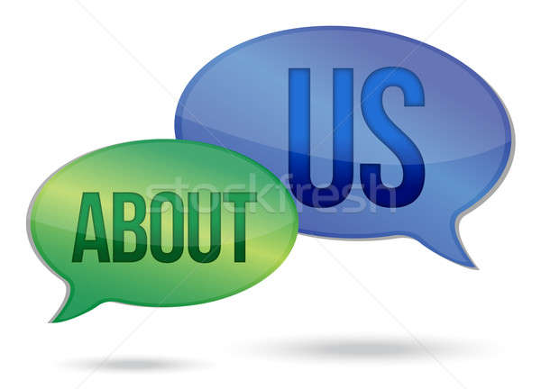 about us messages illustration design over a white background Stock photo © alexmillos