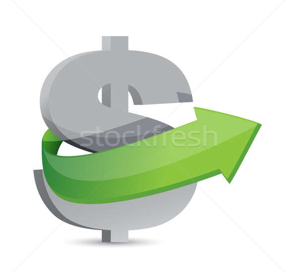 Dollar sign with arrow. Symbolize growth Stock photo © alexmillos