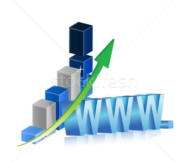 World wide web negócio internet teia azul Foto stock © alexmillos