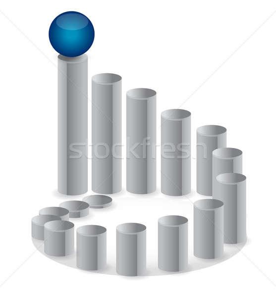 ストックフォト: 先頭 · ビジネス · 会議 · 赤 · マネージャ · グラフ