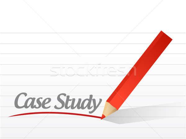 Case study written on a white paper  Stock photo © alexmillos