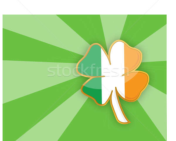 Clover leaf element background  Stock photo © alexmillos