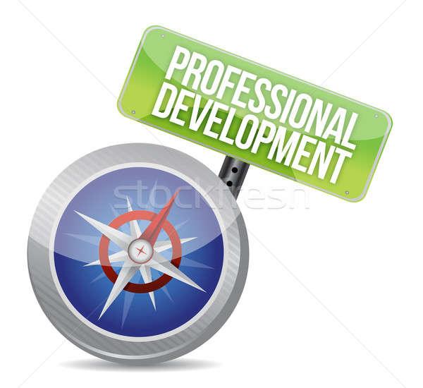 Professional development Glossy Compass Stock photo © alexmillos