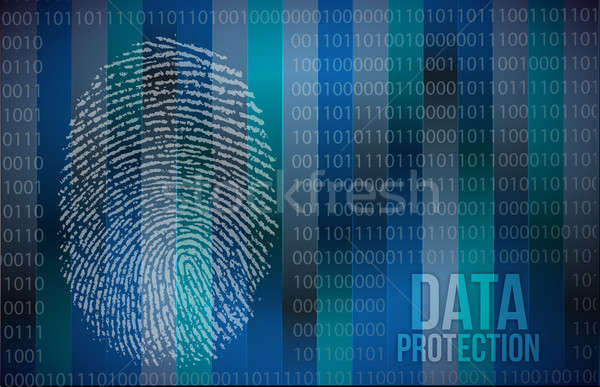 Sicurezza impronte digitali computer internet abstract Foto d'archivio © alexmillos