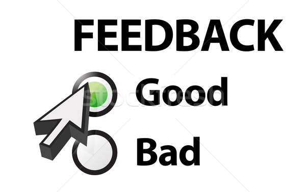 Stock photo: Good selected on a feedback question