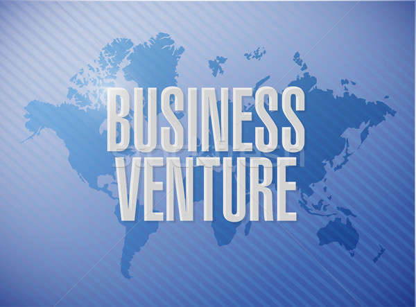 business venture world map sign concept Stock photo © alexmillos