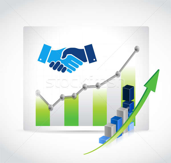 business agreement handshake graph concept Stock photo © alexmillos