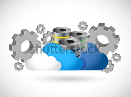 Webinar támogatás illusztráció terv fehér internet Stock fotó © alexmillos