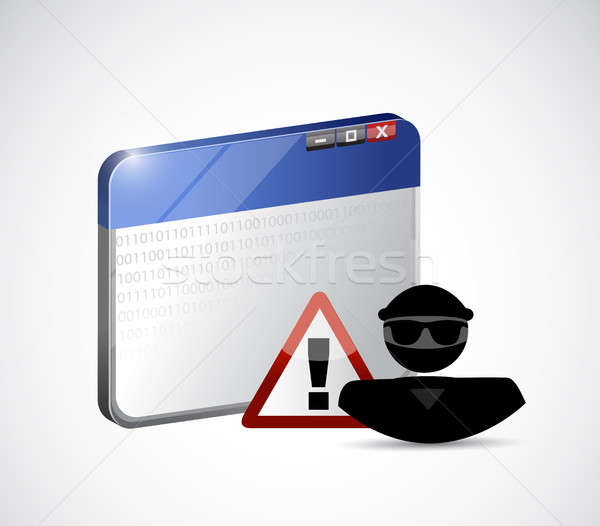 internet web hacker. security warning concept Stock photo © alexmillos
