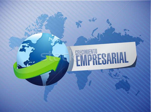 Negocios crecimiento internacional signo espanol ilustración Foto stock © alexmillos