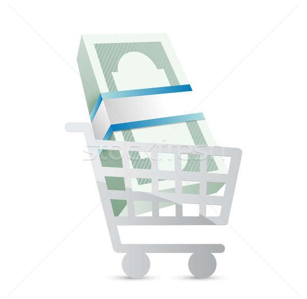 business shopping cart illustration Stock photo © alexmillos