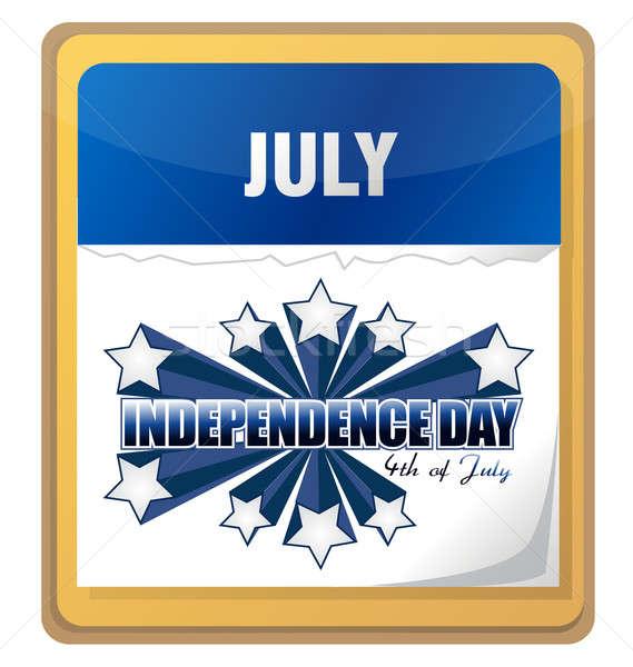 Negyedike nap naptár absztrakt fény zászló Stock fotó © alexmillos