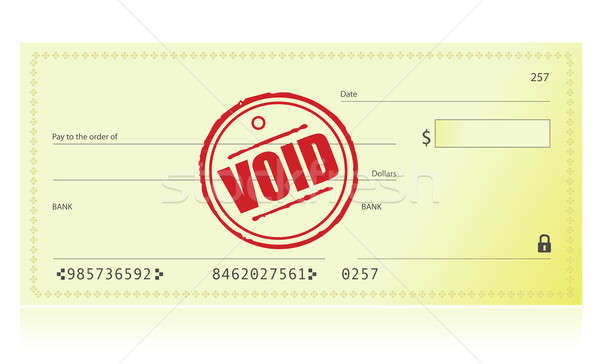 Void Bank Check illustration isolated over a white background Stock photo © alexmillos
