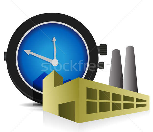 time Factory illustration design over a white background Stock photo © alexmillos