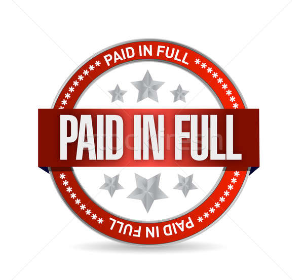 paid in full seal illustration design over a white background Stock photo © alexmillos