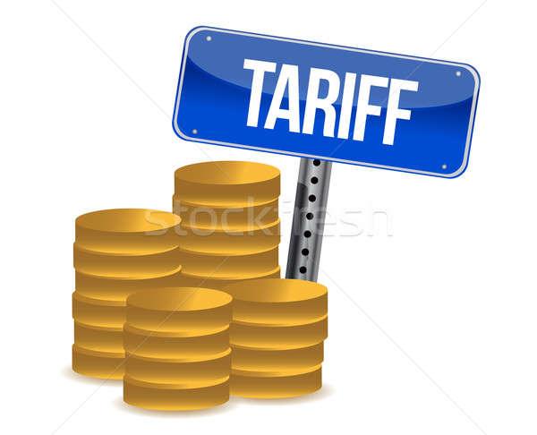 tariff concept illustration design over a white background Stock photo © alexmillos