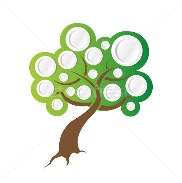 tree illustration ready for info graphics. illustration design o Stock photo © alexmillos