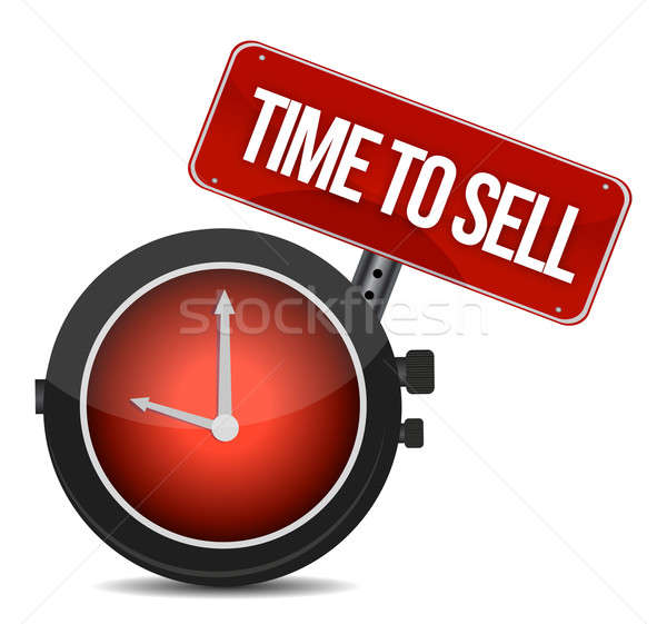time to sell concept illustration design over a white background Stock photo © alexmillos