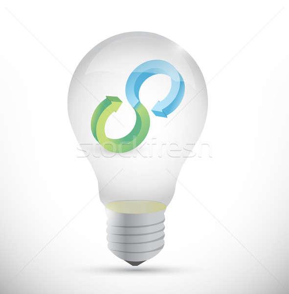 idea infinity bulb icon illustration design over white Stock photo © alexmillos