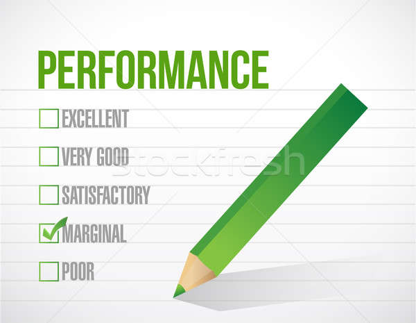 marginal performance review illustration design graphic over whi Stock photo © alexmillos