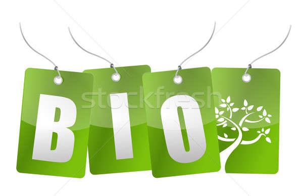 Bio arbre illustration design blanche Photo stock © alexmillos