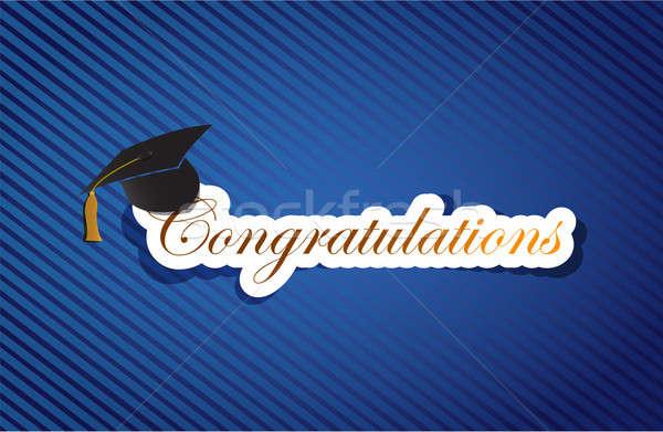 Edukacji gratulacje podpisania student biały pochwały Zdjęcia stock © alexmillos