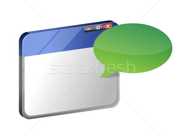 Computer windows message Stock photo © alexmillos